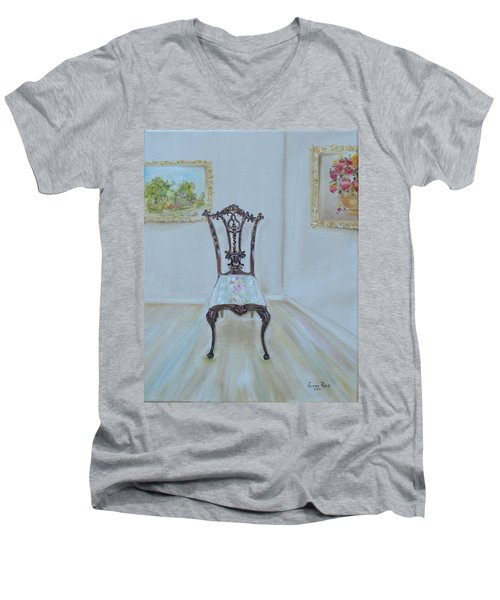 The Chair Men's V-Neck T-Shirt by Judith Rhue