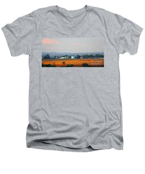 Men's V-Neck T-Shirt featuring the photograph The Countryside by Davandra Cribbie