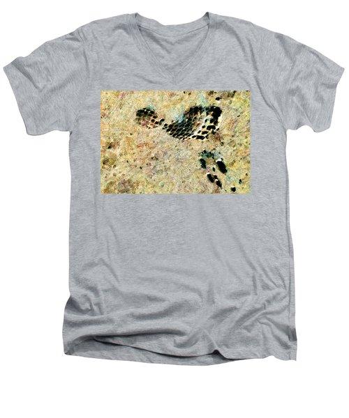 Men's V-Neck T-Shirt featuring the digital art The Evolution Of Man by Steve Taylor