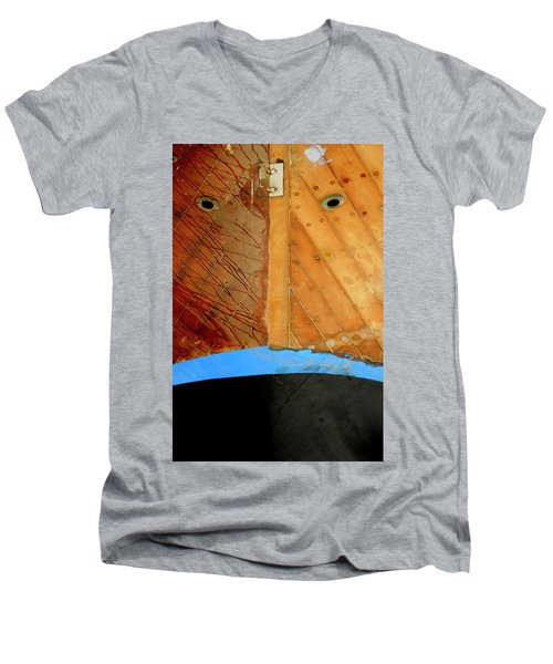 Men's V-Neck T-Shirt featuring the photograph The Face by Pedro Cardona