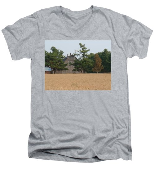 Men's V-Neck T-Shirt featuring the photograph The Farm by Bonfire Photography
