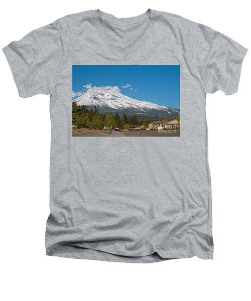 The Heart Of Mount Shasta Men's V-Neck T-Shirt