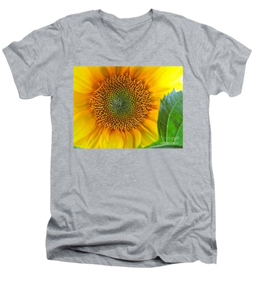 Men's V-Neck T-Shirt featuring the photograph The Last Sunflower by Sean Griffin
