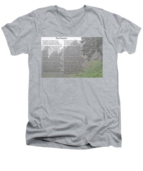 The Pinnacle Men's V-Neck T-Shirt by Tikvah's Hope