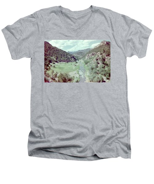 Men's V-Neck T-Shirt featuring the photograph The River by Bonfire Photography
