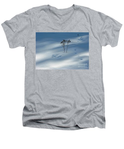Men's V-Neck T-Shirt featuring the photograph The Shadow Of Loneliness by Ausra Huntington nee Paulauskaite