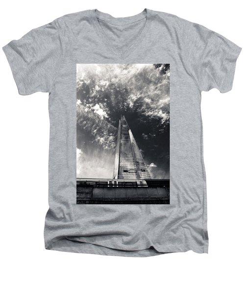 The Shard And London Bridge Men's V-Neck T-Shirt