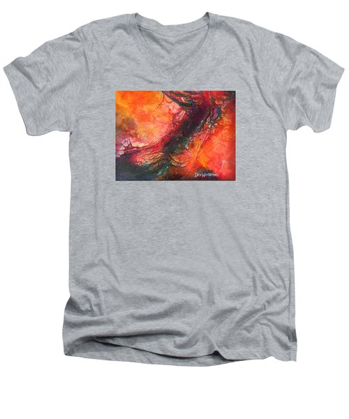 The Singer Men's V-Neck T-Shirt by Dan Whittemore