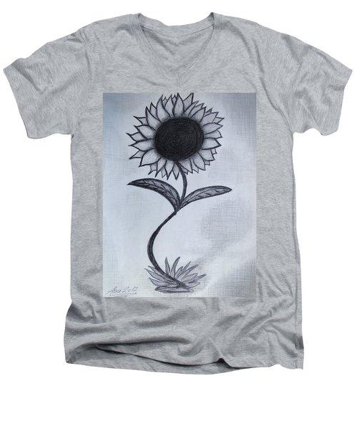 The Sunflower  Men's V-Neck T-Shirt