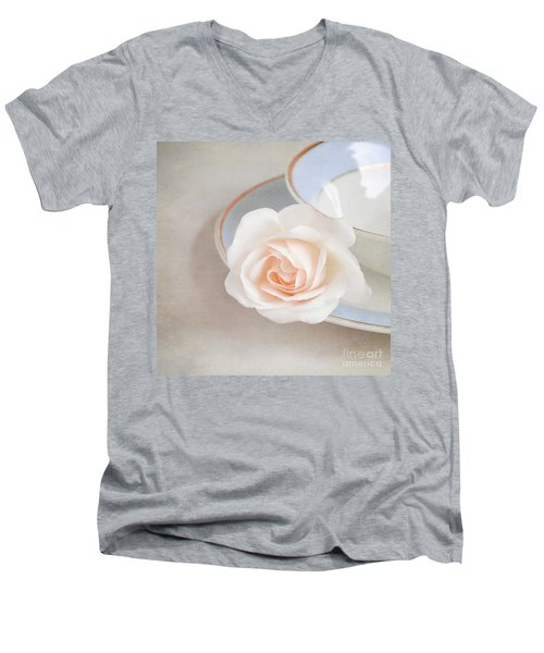 The Sweetest Rose Men's V-Neck T-Shirt by Lyn Randle