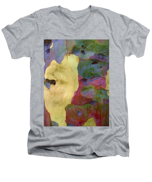 The True Colors Of A Tree Men's V-Neck T-Shirt