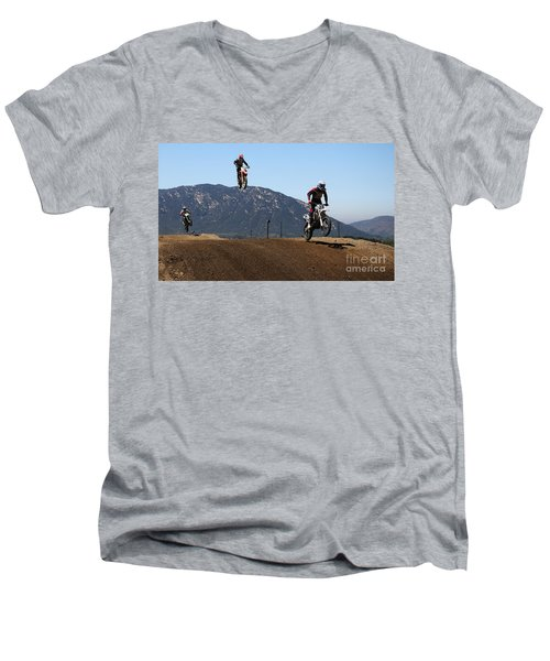Three In The Air Men's V-Neck T-Shirt