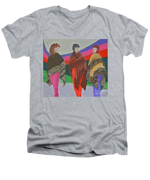 Three Women Men's V-Neck T-Shirt
