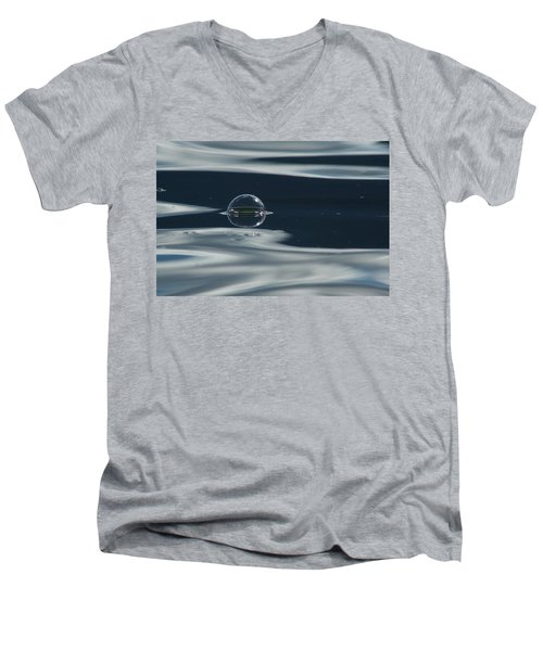 Men's V-Neck T-Shirt featuring the photograph Through The Milky Way In My Spaceship by Cathie Douglas