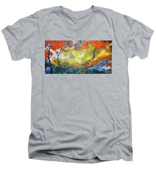 Through The Myst Men's V-Neck T-Shirt