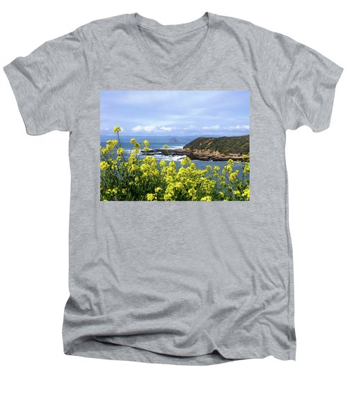Through Yellow Flowers Men's V-Neck T-Shirt