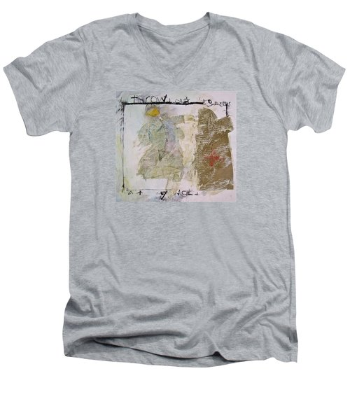Throwing Stones At My World Men's V-Neck T-Shirt by Cliff Spohn