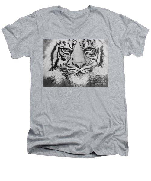 Tiger's Eyes Men's V-Neck T-Shirt