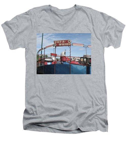 Tilt A Whirl Ride Men's V-Neck T-Shirt