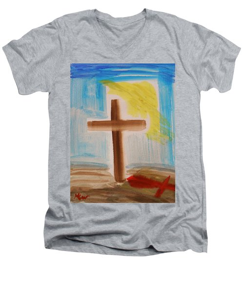 Tim Tebow's Cross-easter Monday Men's V-Neck T-Shirt