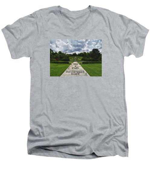 Men's V-Neck T-Shirt featuring the photograph Time Is Wealth by Barbara Middleton