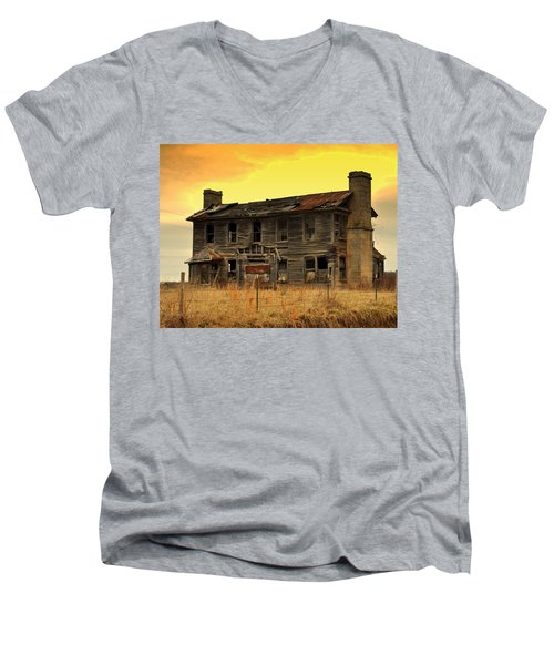 Men's V-Neck T-Shirt featuring the photograph Times Past by Marty Koch