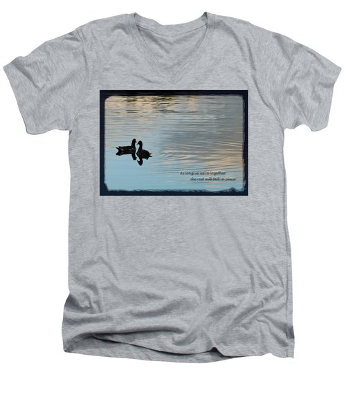 Men's V-Neck T-Shirt featuring the photograph Together by Steven Sparks