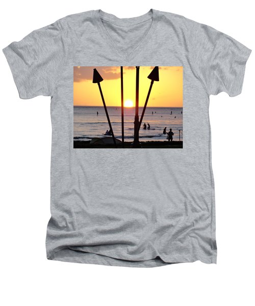 Torched Sunset Men's V-Neck T-Shirt
