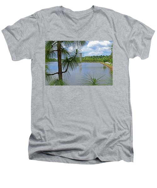 Tower Thru The Pine Men's V-Neck T-Shirt