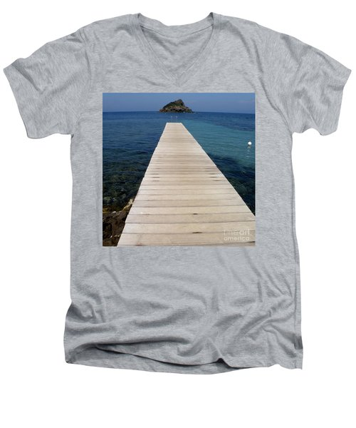 Tranquility  Men's V-Neck T-Shirt by Lainie Wrightson