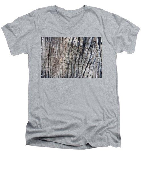 Tree Bark No. 1 Stress Lines Men's V-Neck T-Shirt by Lynn Palmer