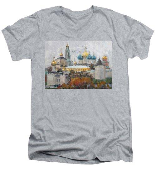 Trinity-st. Sergius Lavra Men's V-Neck T-Shirt