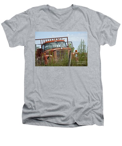 Turned Out To Pasture Men's V-Neck T-Shirt by Wilma  Birdwell