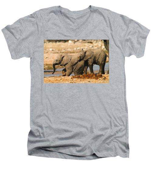 Two Up Men's V-Neck T-Shirt