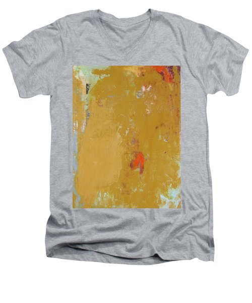 Untitled Abstract - Ochre Cinnabar Men's V-Neck T-Shirt