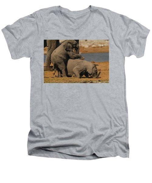 Us Together Men's V-Neck T-Shirt