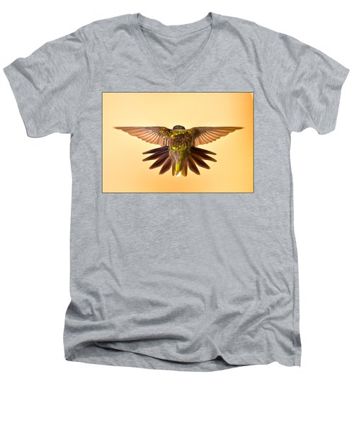 Men's V-Neck T-Shirt featuring the photograph Usaf Hummingbirds Wings by Randall Branham