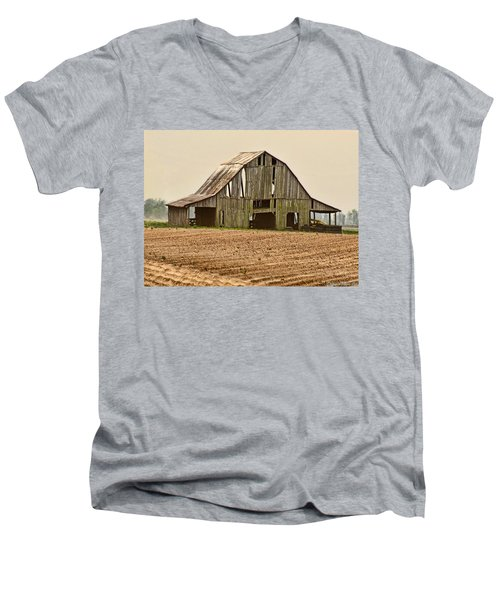 Men's V-Neck T-Shirt featuring the photograph Vanishing American Icon by Debbie Portwood