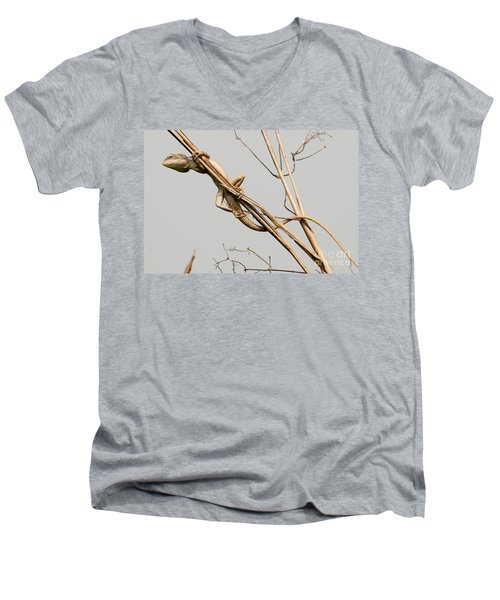 Men's V-Neck T-Shirt featuring the photograph Vantage Point by Fotosas Photography