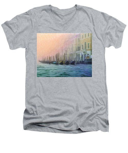 Venetian Gondolas Men's V-Neck T-Shirt