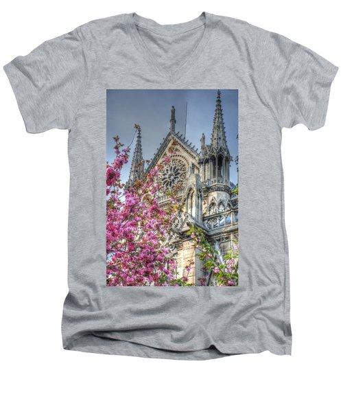 Men's V-Neck T-Shirt featuring the photograph Vibrant Cathedral by Jennifer Ancker