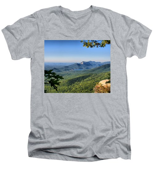 Men's V-Neck T-Shirt featuring the photograph View From Caesar's Head by Lynne Jenkins