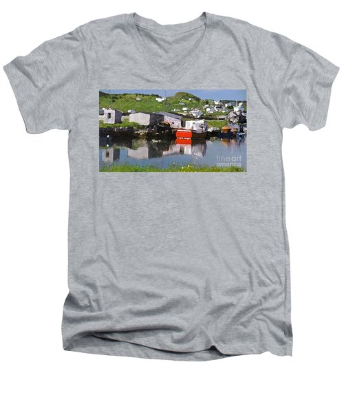 Men's V-Neck T-Shirt featuring the photograph Villiage by Lydia Holly