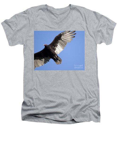 Vulture Men's V-Neck T-Shirt by Jeannette Hunt