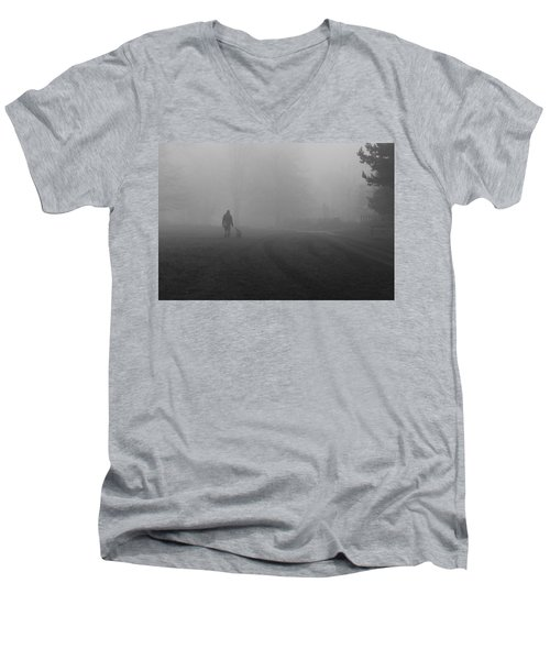 Walk The Dog Men's V-Neck T-Shirt by Maj Seda