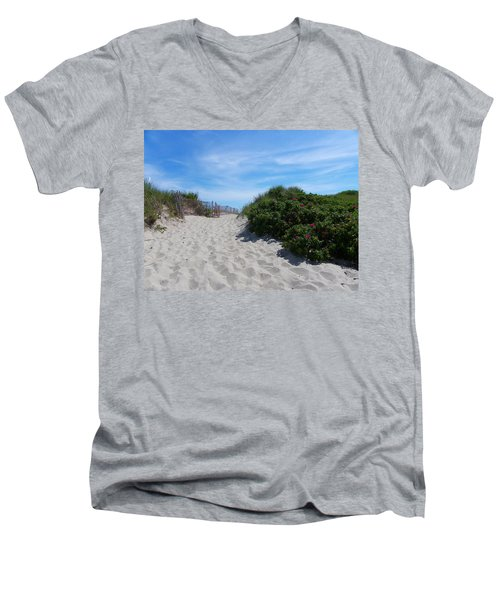 Walking Through The Dunes Men's V-Neck T-Shirt