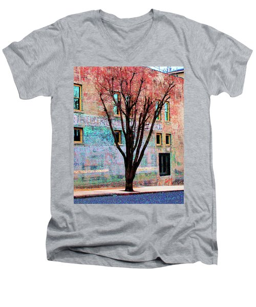 Men's V-Neck T-Shirt featuring the photograph Wall Wth Secrets by Lizi Beard-Ward