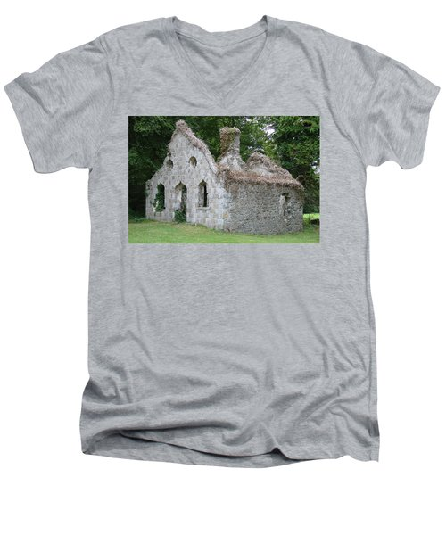 Men's V-Neck T-Shirt featuring the photograph Walls For The Winds by Charlie and Norma Brock