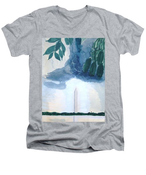 Washington Monument Men's V-Neck T-Shirt