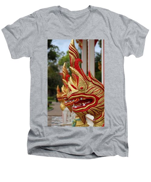 Wat Chalong 3 Men's V-Neck T-Shirt